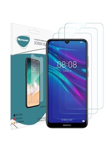 Microsonic Huawei Y7 Prime 2019 Ekran Koruyucu Nano Cam (3'lü Paket) Renksiz